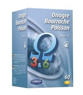 O.B.P.(ONAGRA-BORRAJA-SALMON) 60 CAPS. ORTHONAT