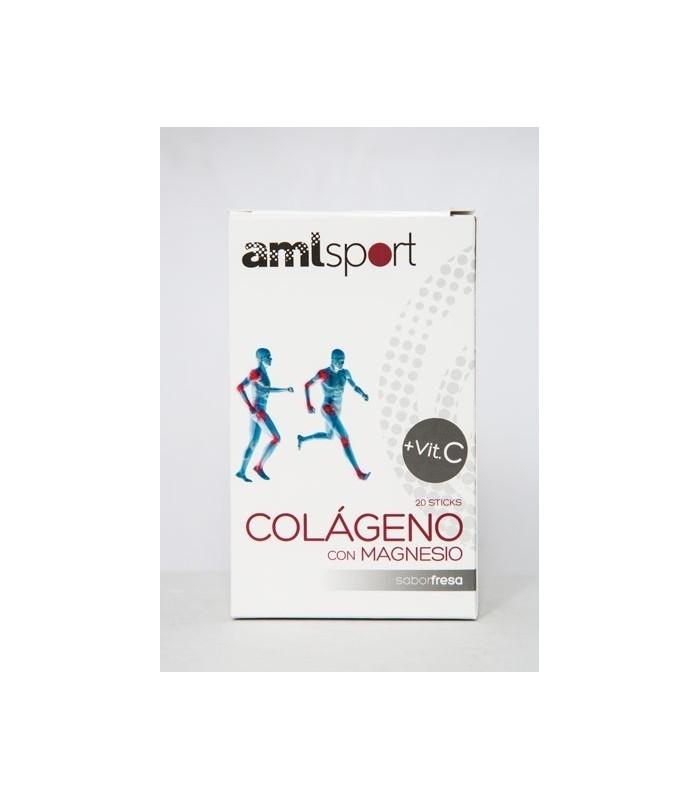 COLAGENO CON MAGNESIO AMLSPORT 20 sticks ANA Mª LAJUSTICIA
