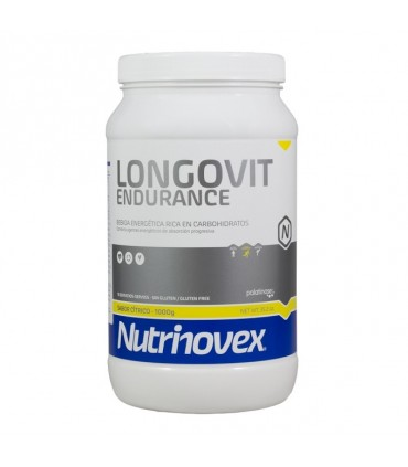 LONGOVIT CITRICO 1KG (Bebida energética con L-Glutamina)